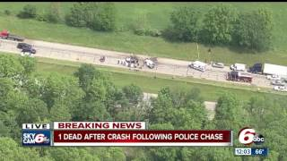 One killed in I-70 crash following police chase