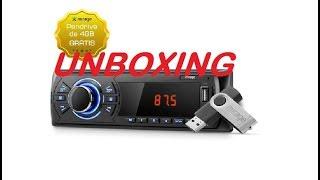 RADIO MIRAGE MP3 PLAYER C RÁDIO FM ENTRADA USB SD E P2 AUXILIAR MR5000 UNBOXING