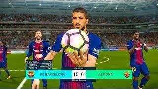Pes 2018 | barcelona vs as roma full match pc gameplay