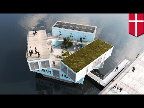 Urban Rigger: Shipping containers become floating dorms for Danish students - TomoNews