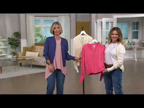 Peace Love World Zip Front Summer Bomber Jacket on QVC