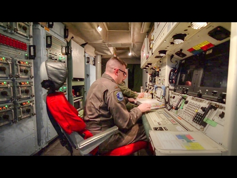 Inside Top Secret Clearance ICBM Missile Launch Control Center & Missile Silo