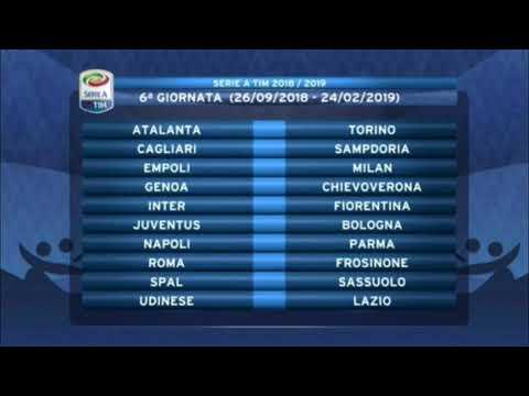 Serie A Tim Calendario.Calendario Serie A Tim 2018 19