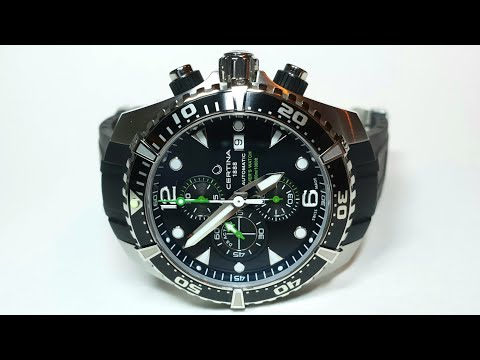 Certina DS Action Diver Chronograph Automatic. Обзор\Review