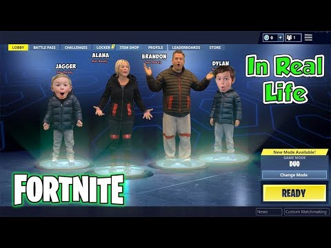 Fortnite Battle Royal in Real Life Nerf Kids SKIT | DavidsTV