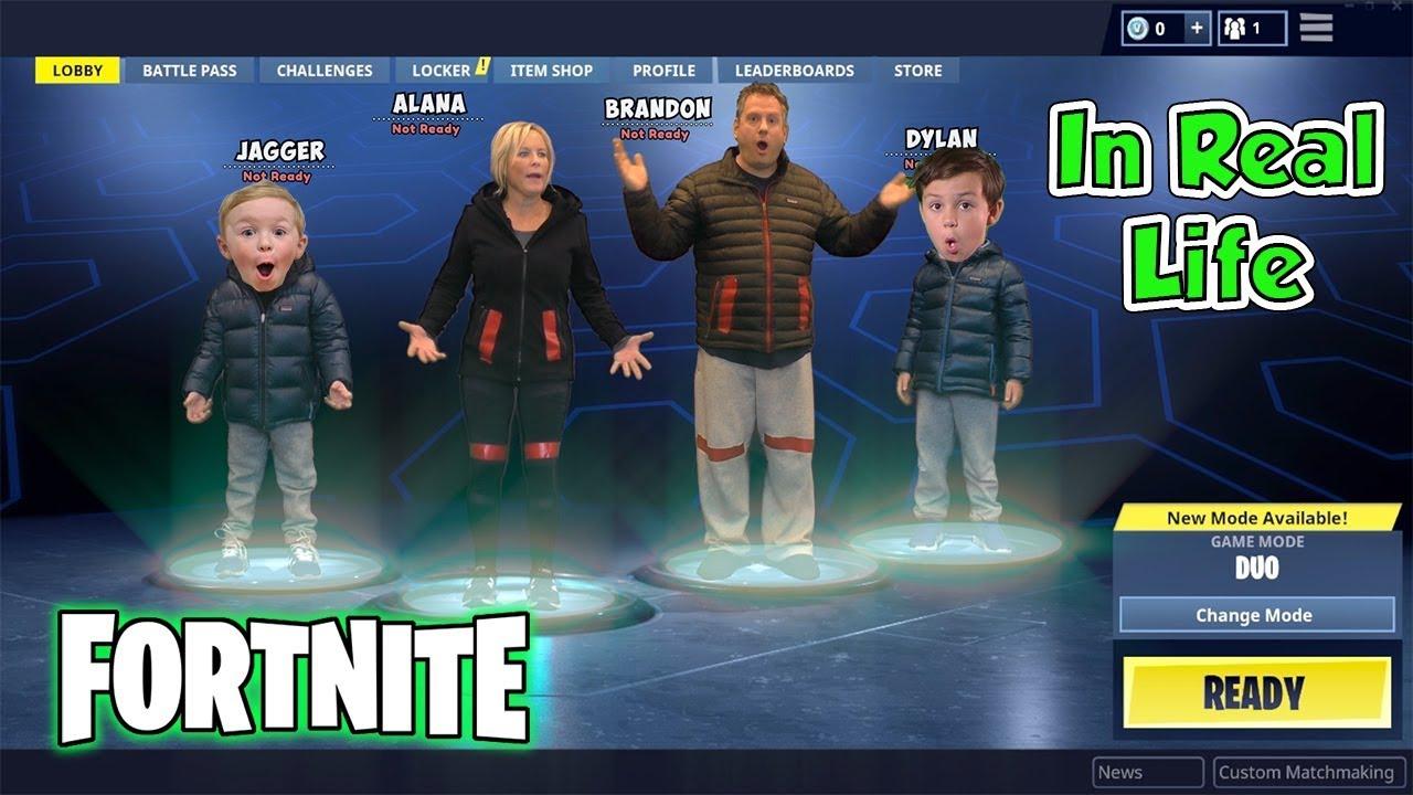 Fortnite Battle Royal In Real Life Nerf Kids Skit Dav
