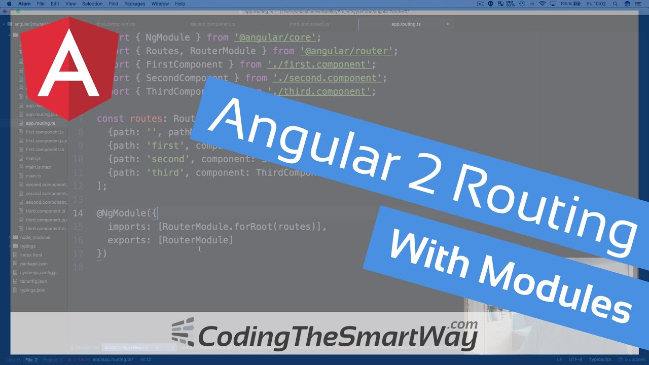 Angular 2 Routing With Modules - CodingTheSmartWay com