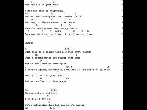 Just give me a reason Pink   lyrics and chords