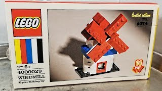 Special LEGO 60th Anniversary Windmill review! 2018 set 4000029!