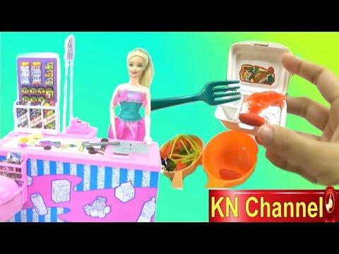 KN Channel Đồ chơi trẻ em SIÊU THỊ BÚP BÊ BARBIE NẤU ĂN VỚI BÉ NA