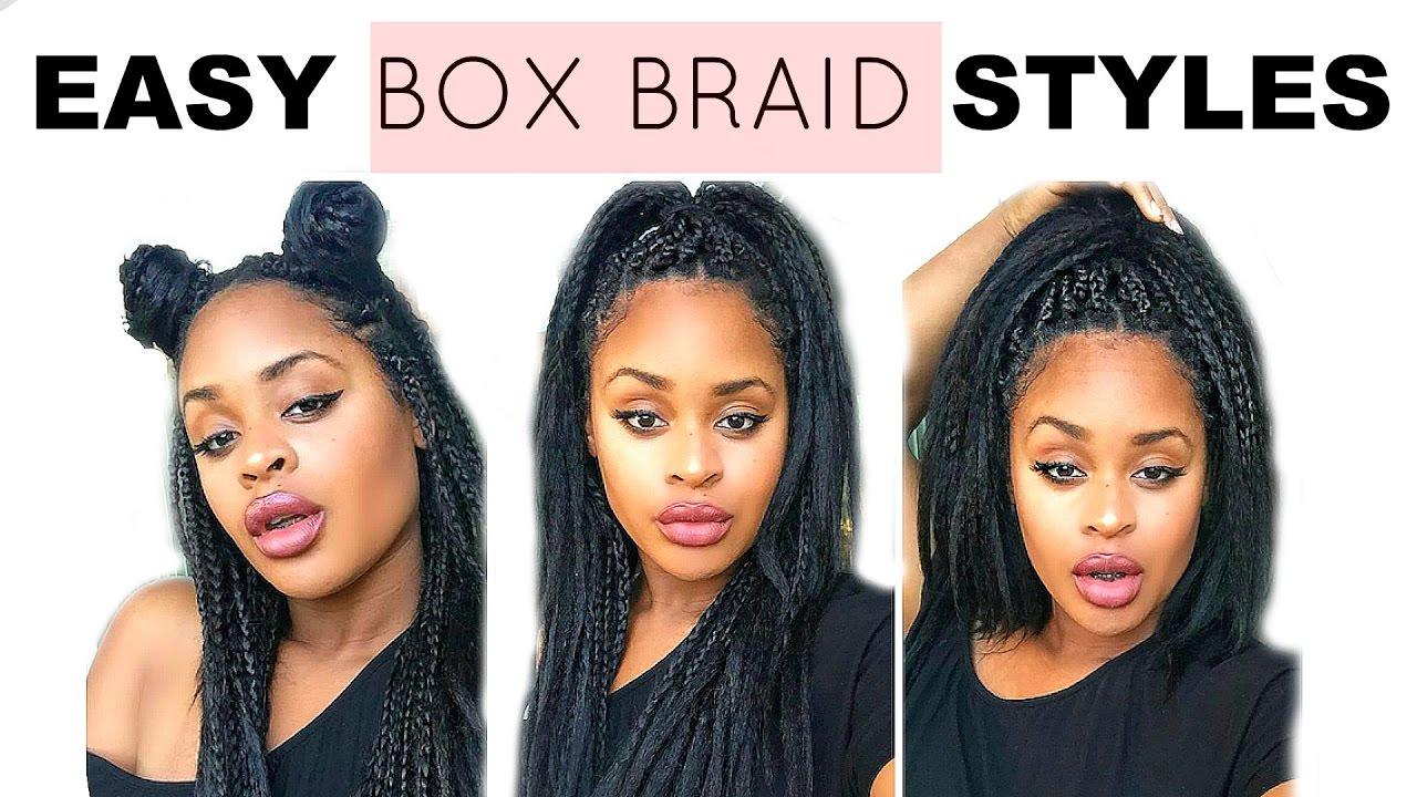 super quick & easy box braid hair