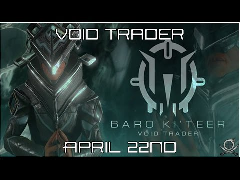 (Warframe) Baro Ki'Teer April 22nd - Hydroid Immortal