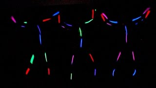 GLOW IN THE DARK GYMNASTICS!