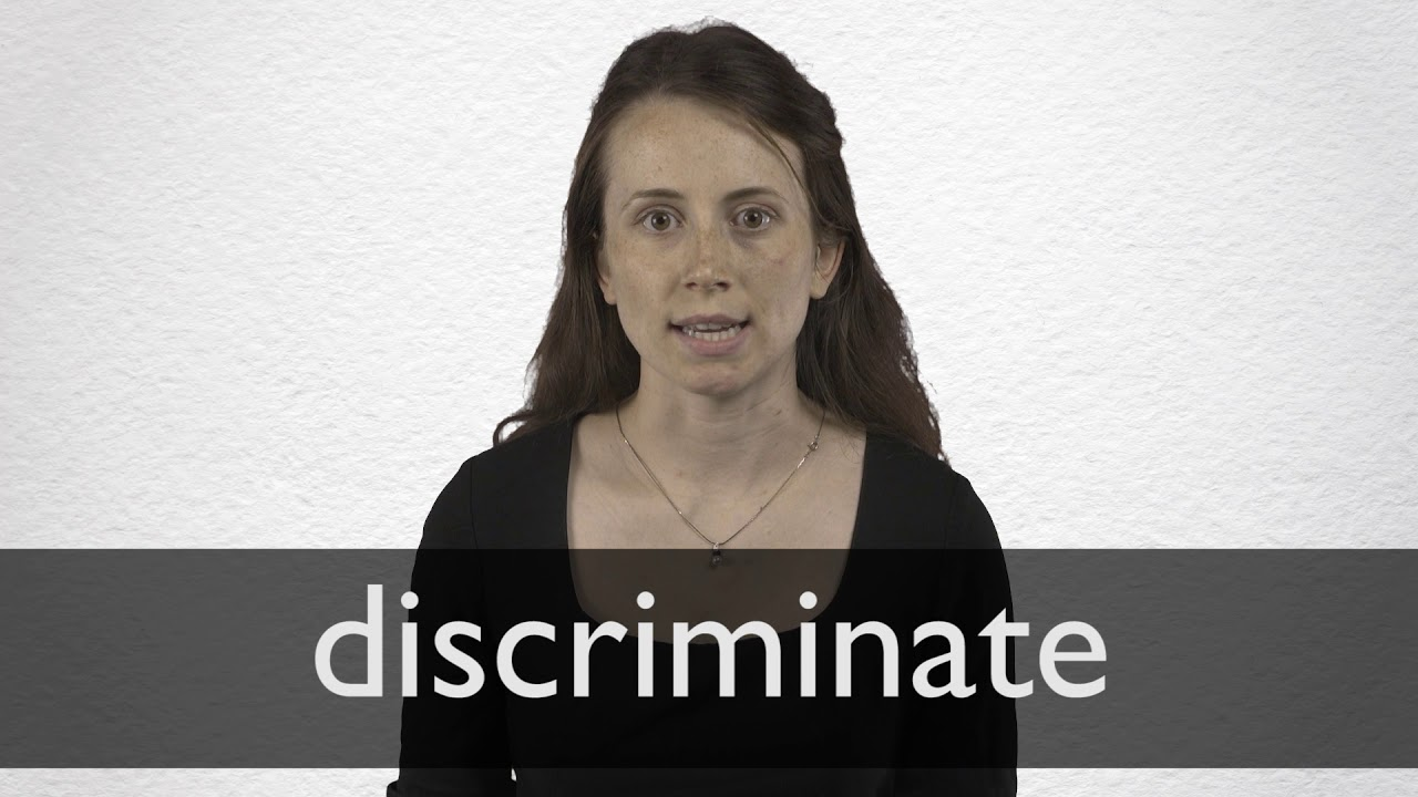 How to pronounce DISCRIMINATE in British English