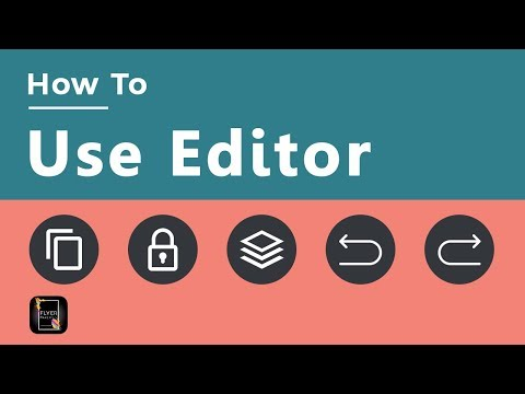 How To Use Editor In Flyer Maker