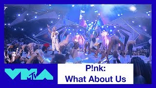 P!nk 360° Performance of 'What About Us' | 2017 VMAs | MTV