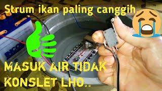 Tess alat strum ikan di rendem dalam air. cocok buat nyetrum di musim hujan. WA 089651434120