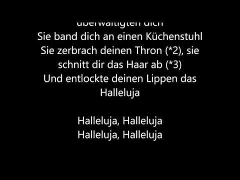 Leonard Cohen - Hallelujah [Deutsche Übersetzung / German Lyrics]