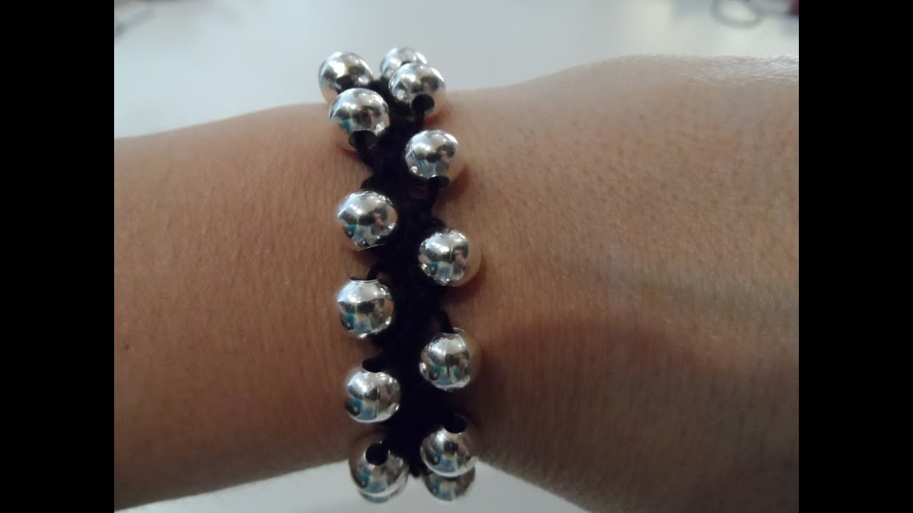 Molto Tutorial: bracciale facilissimo all'uncinetto con perle - YouTube AL99