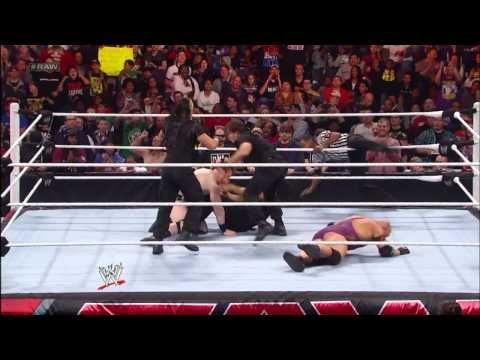 Ryback vs. The Shield -  3-on-1 Handicap Match: Raw, Dec. 31, 2012