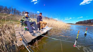 ЛЮБИМАЯ РЫБАЛКА ИЗ ДЕТСТВА - ПРИОБЩАЮ СЫНА! Ловля карася на поплавок - рыбалка с сыном | Херабуна