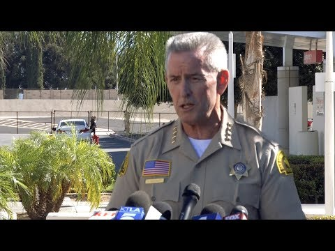 Sheriff McMahon Gives Update on Deputy Shot in Adelanto - Press Conference
