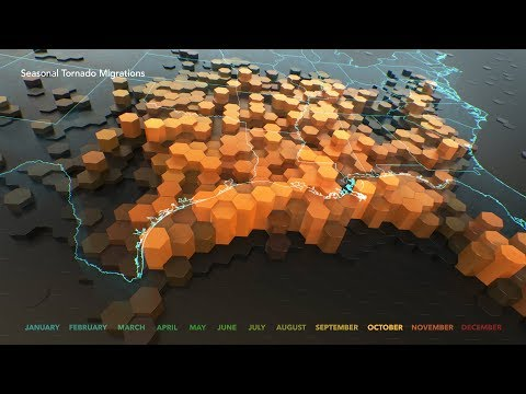 Animated Maps: Seasonal Tornado Migrations