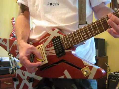 Evh Shark Guitar Replica Runnin With The Devil Youtube