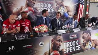 DOMINIC INGLE v DERRICK JAMES - TRAINER BEEF ERUPTS AT PRESS CONFERENCE / BROOK v SPENCE