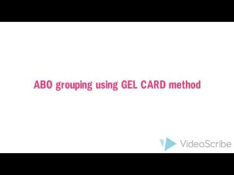 ABO grouping using Gel Card method