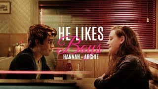 » hannah + archie | he likes boys {au} [HUMOR-ish]
