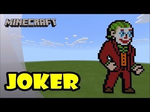 Minecraft: Pixel Art Tutorial and Showcase: Joker (Batman Day) thumbnail