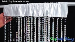 Video Fabric Top Beaded Curtains - ShopWildThings download MP3, 3GP, MP4, WEBM, AVI, FLV Agustus 2018