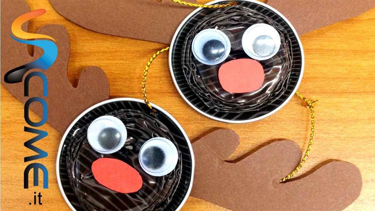 Amato Addobbi di Natale con capsule della Nespresso - Renne - YouTube ZI44