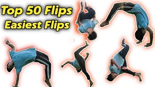 Best Top 50 Easİest Flips & Tricks || Tricking / Tumbling 🔥🔥