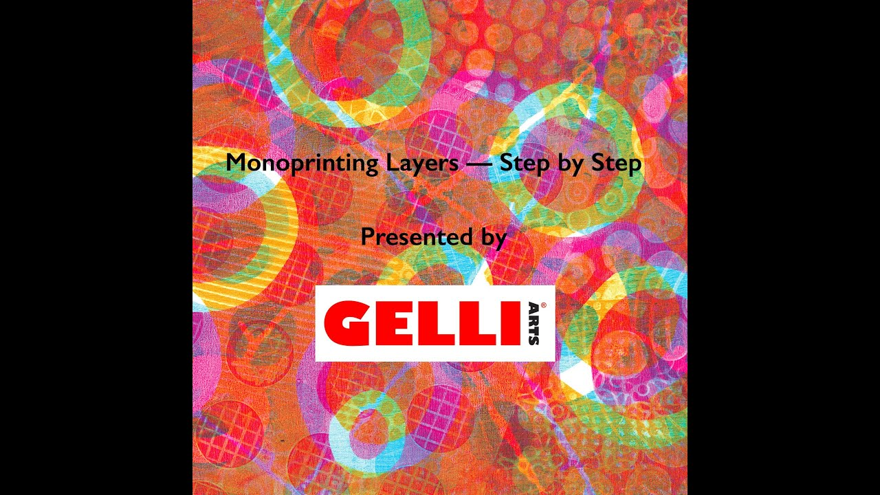 Monoprinting layers with gelli arts step by step youtube baditri Gallery