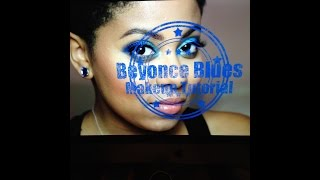 Bright Beyonce Blues Eye Makeup Tutorial Thumbnail