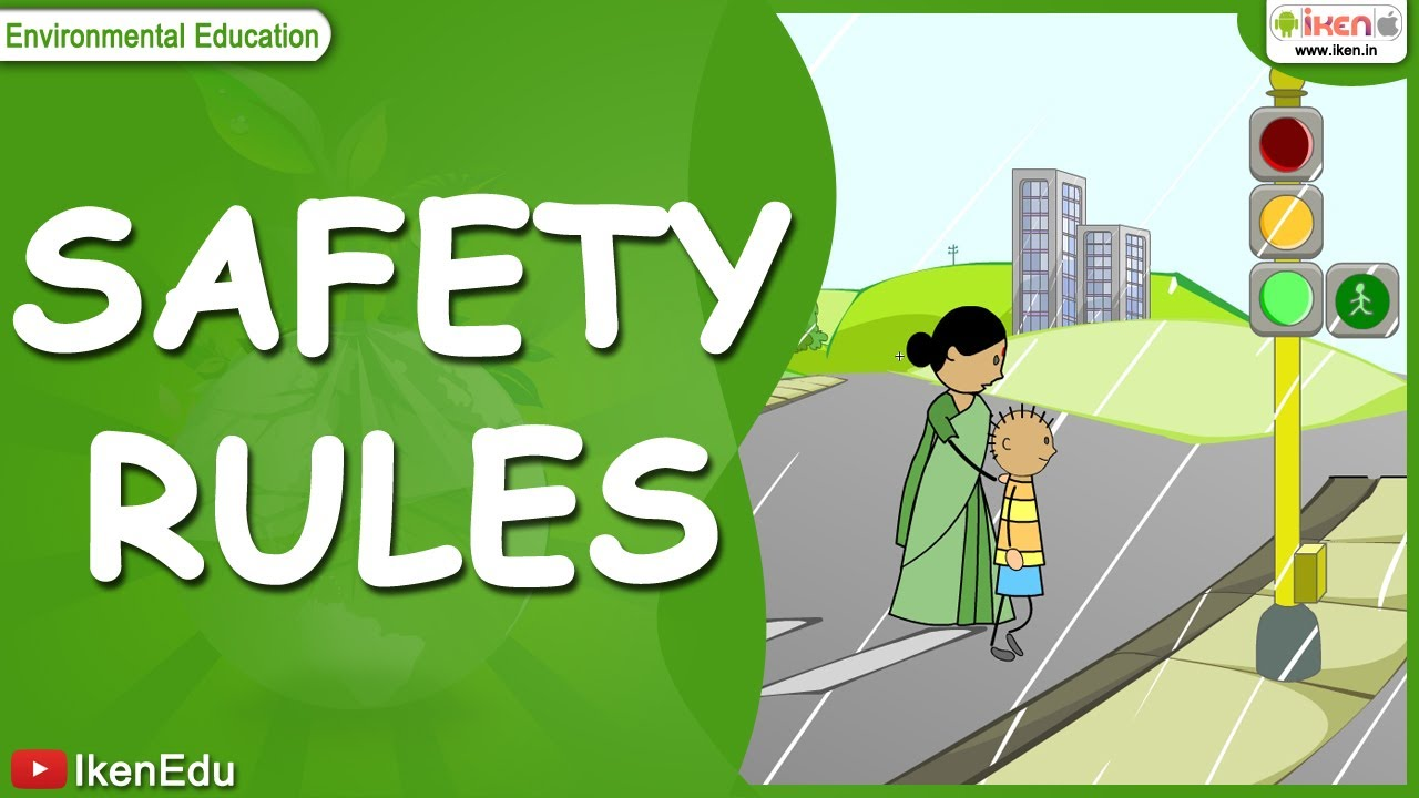 hight resolution of safety rules on road in bus in school and while playing