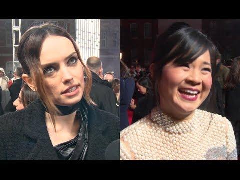 Star Wars Last Jedi Premiere: Daisy Ridley, Kelly Marie Tran INTERVIEWS