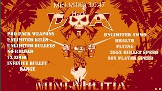 Mini Militia Hack 3.0.87 No Root 2017 Latest Version//Tweak As Many As Moddules