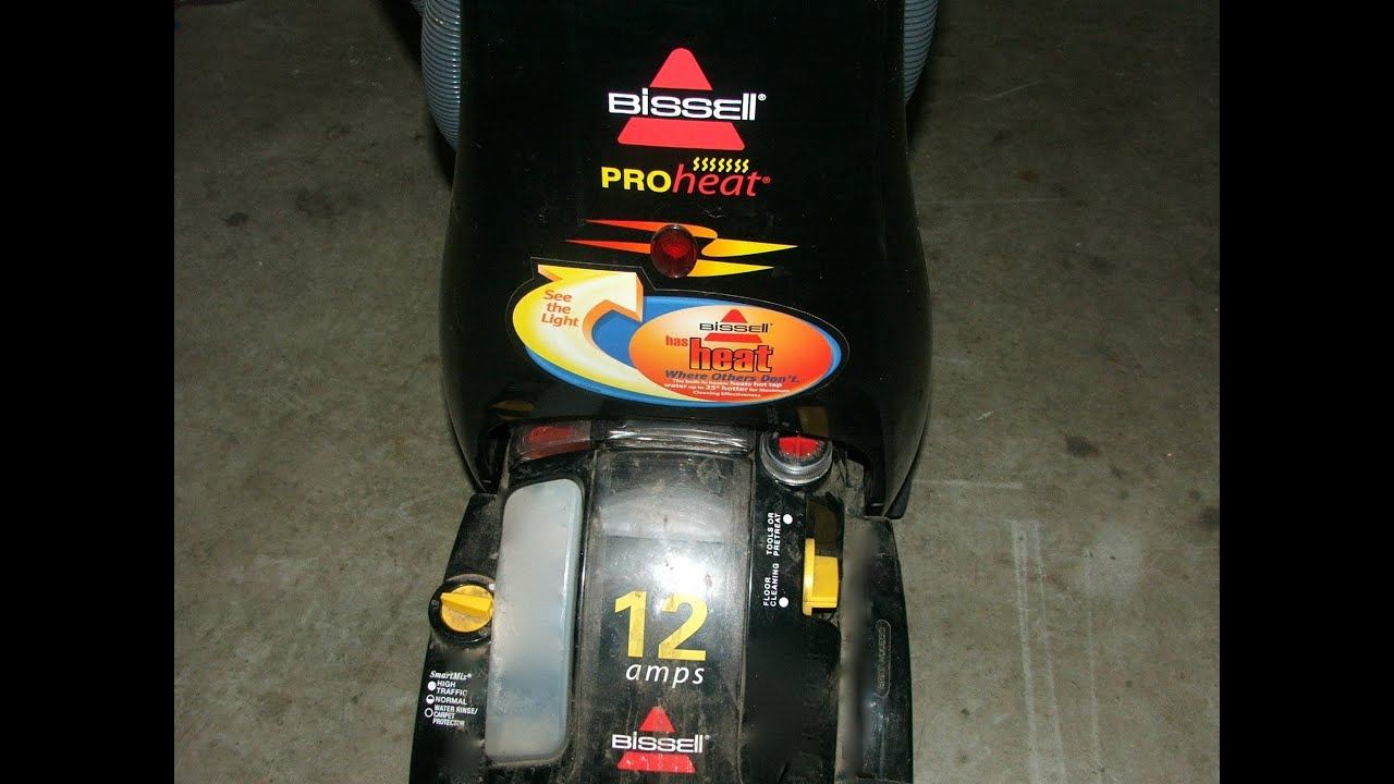 bissell proheat carpet cleaner owners manual