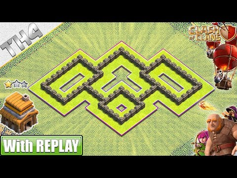NEW BEST Town Hall 4 (TH4) Base With REPLAY 2019 - Clash Of Clans