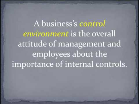 Introduction to SOX and Internal Controls