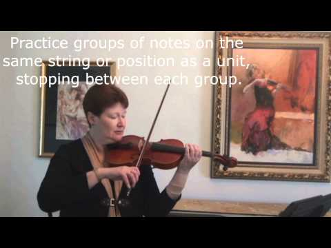 2013 Northeast Ohio Regional Orchestra Violin Auditions Tutorial