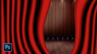 How to make a red stage curtain in photoshop