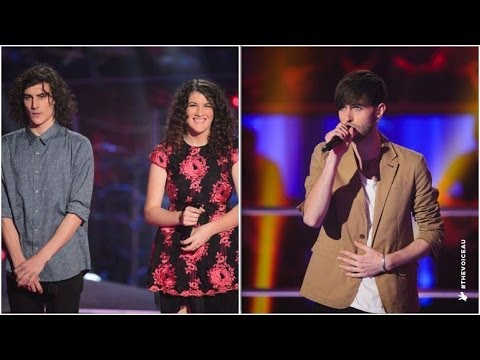 Brandon Duff and Gabriel & Cecilia Sing Demons | The Voice Australia 2014