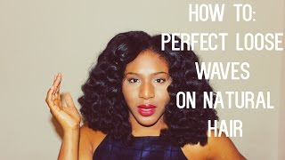 perfect loose waves on natural 4a 4b 4c hair with flexi rods bendy rollers