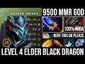 WTF Lvl4 Elder Black Dragon Form Aghanim + Radiance 9500 MMR DK   Monster Carry - 90% Damage DotA 2