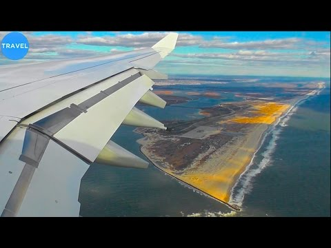 Lufthansa A340-600 Breathtaking Scenic Arrival into New York JFK!