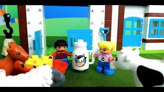 Играем в Лего Дупло. Часть1. Ферма с домашними животными. Part 1.Playing Lego Duplo. Farm with Pets